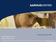 Annual accounts 2003 presentation