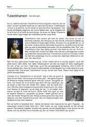 Tutankhamon - barnekongen For ca. 3300 år siden blev ... - Vikartimen