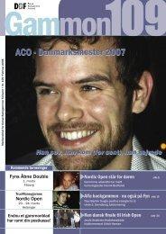 ACO - Danmarksmester 2007 - Dansk Backgammon Forbund