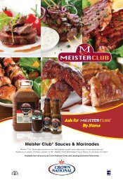 Meister Club® Sauces & Marinades - Crown National