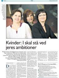 Mange kvinder med ledelsesansvar drømmer om at tage - Master in ...