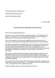 Brev til Folketinget: Forslag vedr. opfølgningen på ... - 92 Gruppen