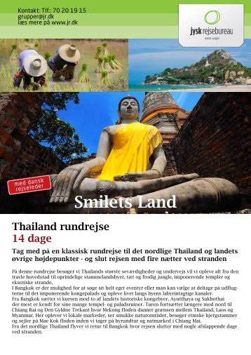 Magiske Thailand Smilets Land - Jysk Rejsebureau