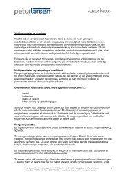 Vedligeholdelse af Crosinox Rustfrit stål er ... - Petur Larsen