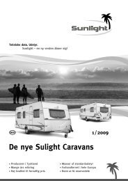 De nye Sulight Caravans 1 / 2009 - Sunlight