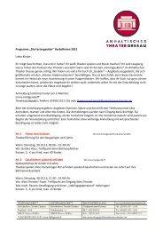 Programm - Anhaltisches Theater Dessau