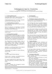 Fælles betingelser - Codan Forsikring A/S