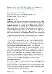 Sexagesima. 3.febr.2013. Hinge Kirke kl.9. Vinderslev Kirke kl.10.30 ...