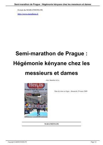 Semi-marathon de Prague : Hégémonie kényane ... - Marathons.fr