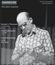 Hunter S. Thomson New Hollywood Kend dine drugs - ORDET