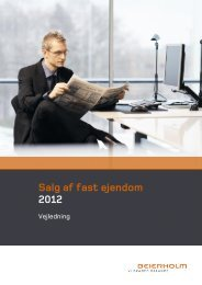 Salg af fast ejendom 2012 - Beierholm