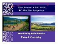 Blair Baldwin - Pinnacle Consulting - Mountain Bike Tourism ...