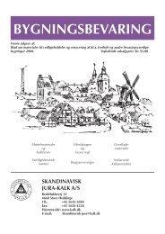 Bygningsbevaring (dansk) - Skandinavisk Jura-Kalk A/S