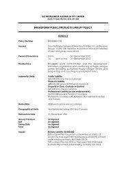2013 Season Public Liability Policy Document - sle worldwide ...