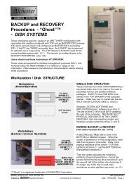 """BACKUP and RECOVERY Procedures - """"Ghost""""™ - DISK SYSTEMS"""