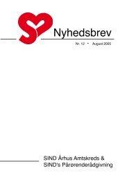 Nyhedsbrev August 2005 - Landsforeningen Sind