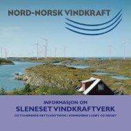 informasjon om sleneset vindkraftverk - Nord-Norsk Vindkraft AS