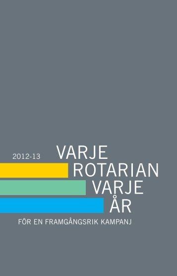 FÖR EN FRAMGÅNGSRIK KAMPANJ 2012-13 - Rotary International
