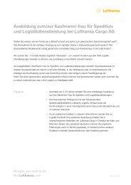 Kaufmann/-frau für Spedition und ... - Be-Lufthansa.com