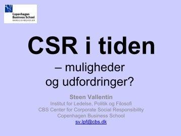 CSR i tiden – muligheder og udfordringer?