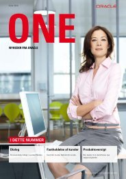 Oracle ONE Marts 2010