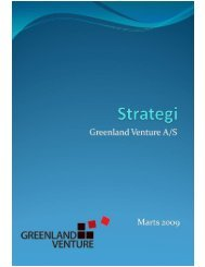 Strategiplan for Greenland Venture A/S