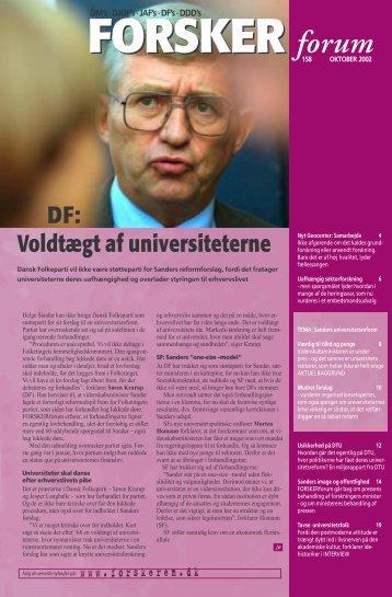 DF: Voldtægt af universiteterne - FORSKERforum