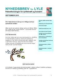 Nyhedsbrev, september 2010 (pdf) - Kræftens Bekæmpelse