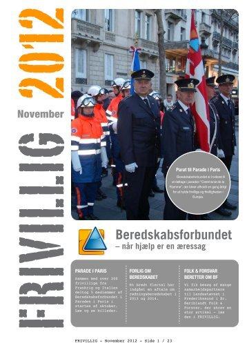 Frivillig November 2012 - Beredskabsforbundet