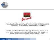 Dansikring Direct A/S er danskeren i verdens største ... - SBS Radio