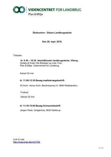 kl. 9.30 – 10.30 Asmildkloster landbrugsskole, Viborg. Oplæg