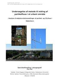 Undersøgelse af metode til måling af partikelfluxe i et urbant område