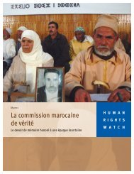 La commission marocaine de vérité - Human Rights Watch