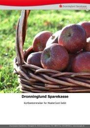 Kortbestemmelser for MasterCard Debit - Dronninglund Sparekasse