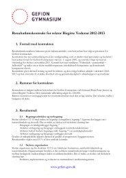 Resultatlønskontrakt for rektor Birgitte Vedersø 2012-2013 1 - Gefion ...