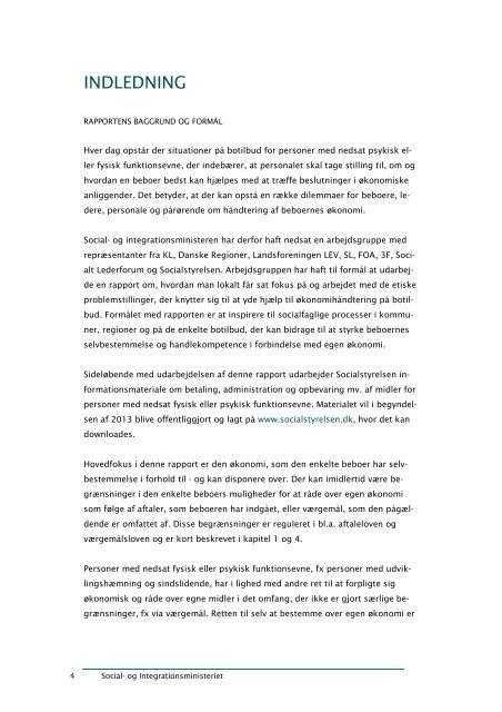 """Rapport om etisk håndtering af beboermidler"""" her - Social"""