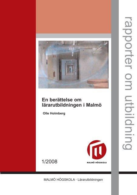 rapporter om utbildning - MUEP - Malmö högskola