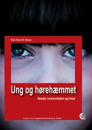 hent rapport (pdf) - Center for Ungdomsforskning