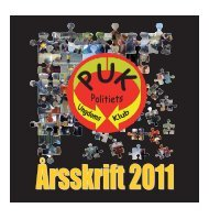 Årsberetning 2011 for PUK Gokart - Politiets Ungdomsklub