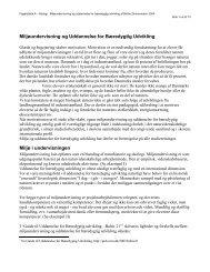 Miljøundervisning og uddannelse for bæredygtig udvikling