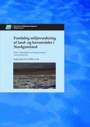 Foreløbig miljøvurdering af land- og havområder i Nordgrønland