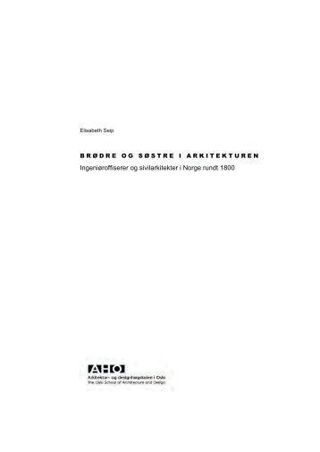 Ingeniøroffiserer og sivilarkitekter i Norge rundt 1800 - Arkitektur- og ...