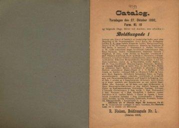 ffioidfiusgade / R. Nielsen, Boldhusgade Nr. 1.