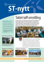 ST-nytt nr.11, 2010 - Sykehuset Telemark