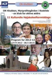 OK-klubben 11 Kulturelle Højskoleeftermiddage - AOF Roskilde