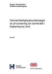 Evaluering af screening for tarmkræft i det tidligere Københavns Amt