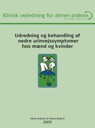 Udredning og behandling af nedre urinvejssymptomer hos ... - DSAM