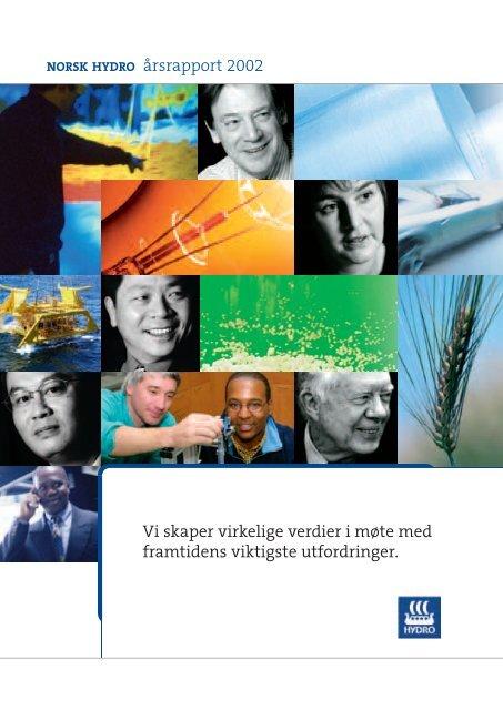 NORSK HYDRO årsrapport 2002 Vi skaper virkelige verdier i møte ...