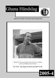 Nr. 4 november 2005 - Ghana Venskabsgrupperne i Danmark