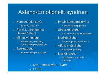 Asteno-Emotionellt syndrom